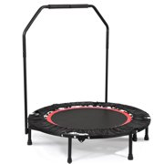 "40"" Fitness Rebounder Trampoline with Adjustable Angle Handrail Fitness Workout  HFON"