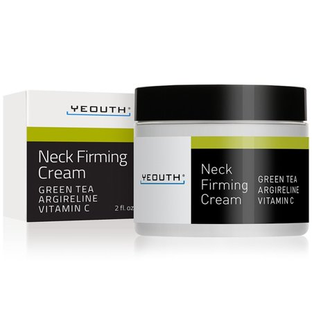 YEOUTH Neck Cream for Firming, Anti Aging Wrinkle Cream Moisturizer, Skin Tightening, Helps Double Chin, Turkey Neck Tightener, Repair Crepe Skin with Green Tea, Argireline, Vitamin C