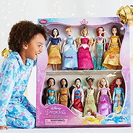 Disney Exclusive Princess Doll Collection - 12''- (11 Dolls:Snow White, Cinderella, Aurora, Ariel, Belle, Jasmine, Pocahontas, Mulan, Tiana, Rapunzel, and Merida) - Belle And Snow White