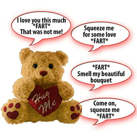 Farting Teddy Bear - Hug It's Heart To Hear It Fart | Soft Plush 11
