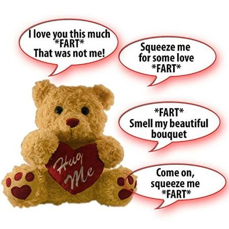 Winter Hugs Bear - Farting Teddy Bear - Hug It's Heart To Hear It Fart | Soft Plush 11