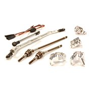 Integy RC Toy Model Hop-ups C24449SILVER V2 4WS Conversion Kit for Axial 1/10 Wraith