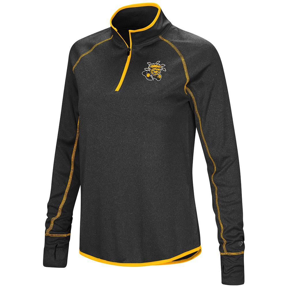Womens Wichita State Shockers Quarter Zip Long Sleeve Shirt - XL