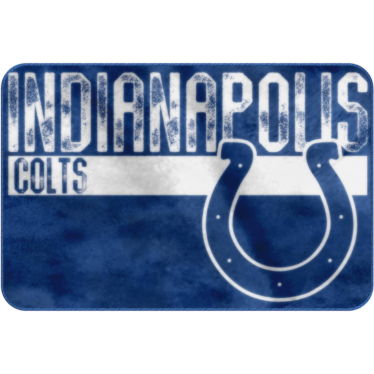 "NFL Indianapolis Colts ""Worn Out"" Mat, 20"" x 30"""
