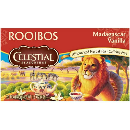 2 Pack - Celestial Seasonings Rooibos Tea,  Madagascar Vanilla 20 - Vanilla Coconut White Tea