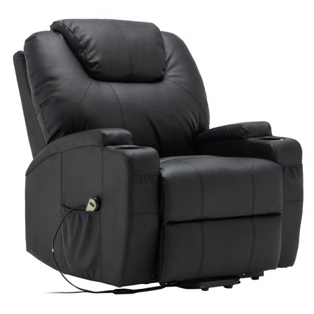 Goplus Electric Lift Power Recliner Chair Heated Massage Sofa Lounge W  Remote Control