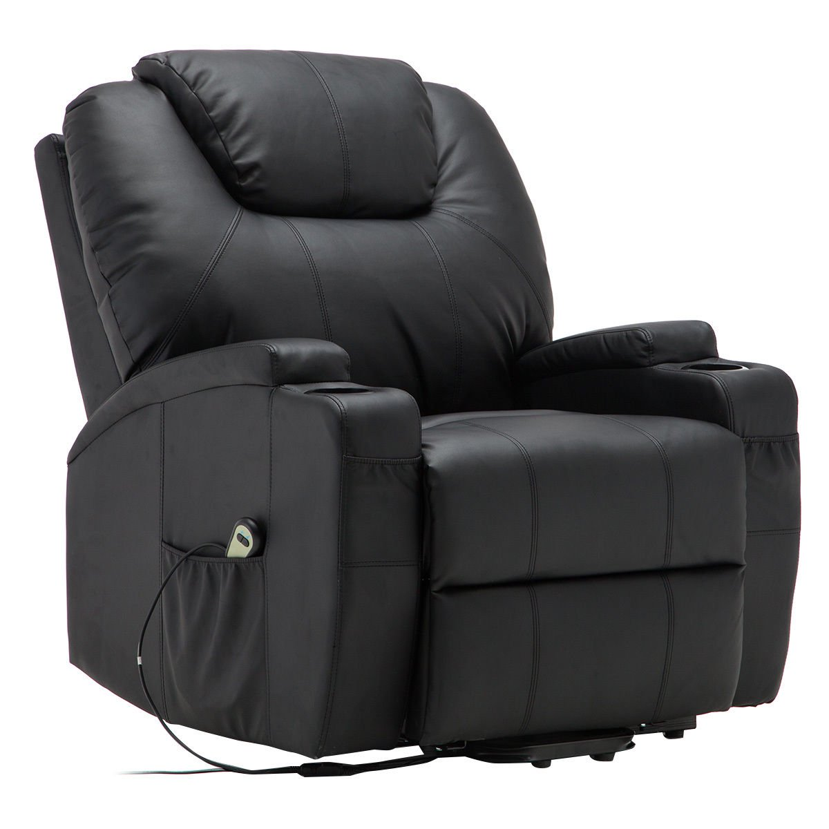 Costway Electric Lift Power Recliner Chair Heated Massage Sofa Lounge w/ Remote Control  sc 1 st  Walmart : recliner chairs electric - islam-shia.org