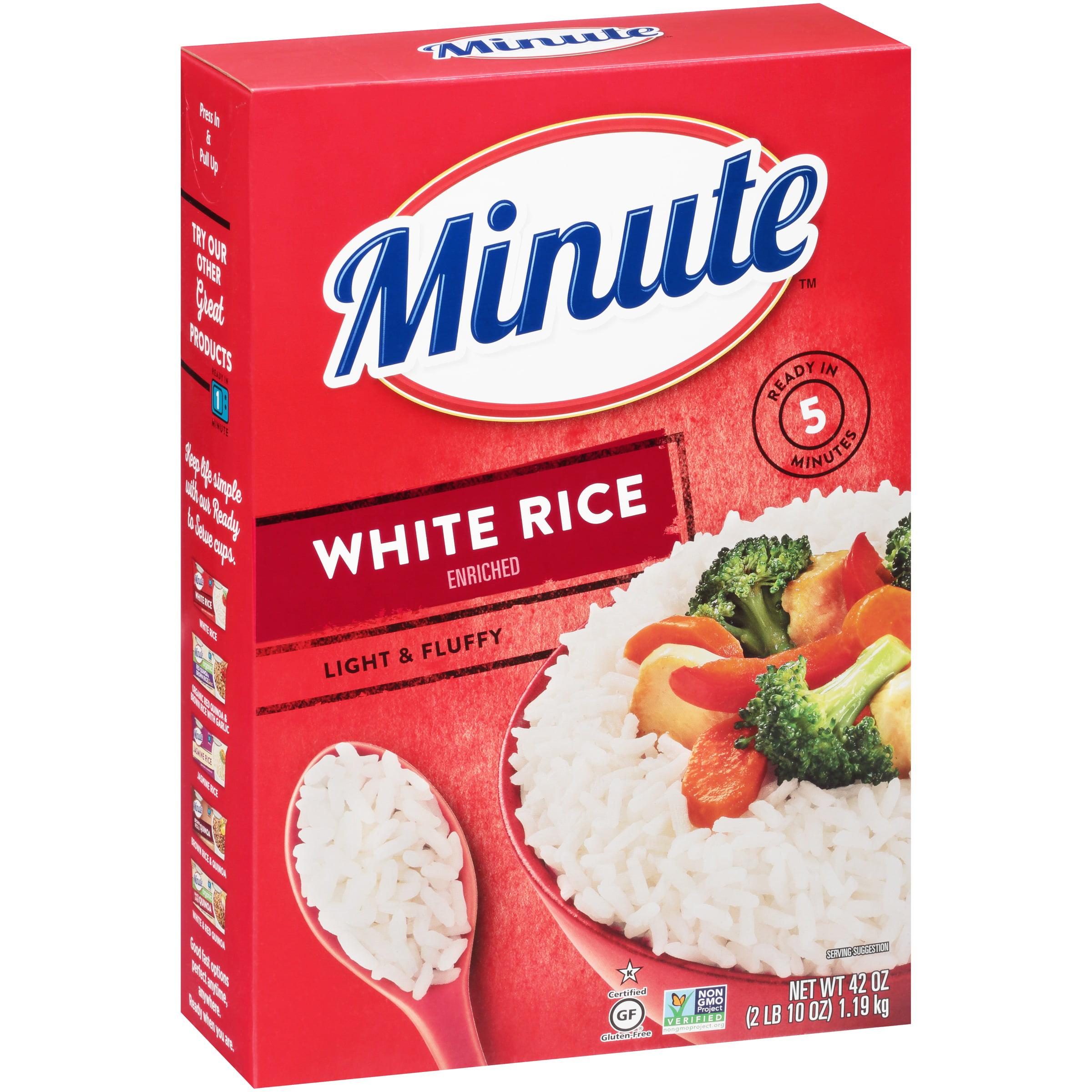 Minute White Instant Enriched Long Grain Rice 42 Oz Box