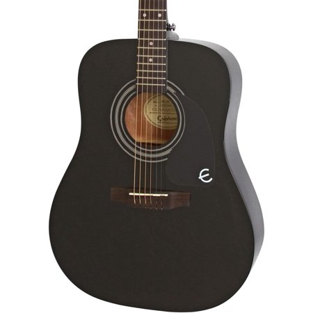 Epiphone Pro-1 Acoustic Guitar system for Beginners, Gloss Ebony Finish