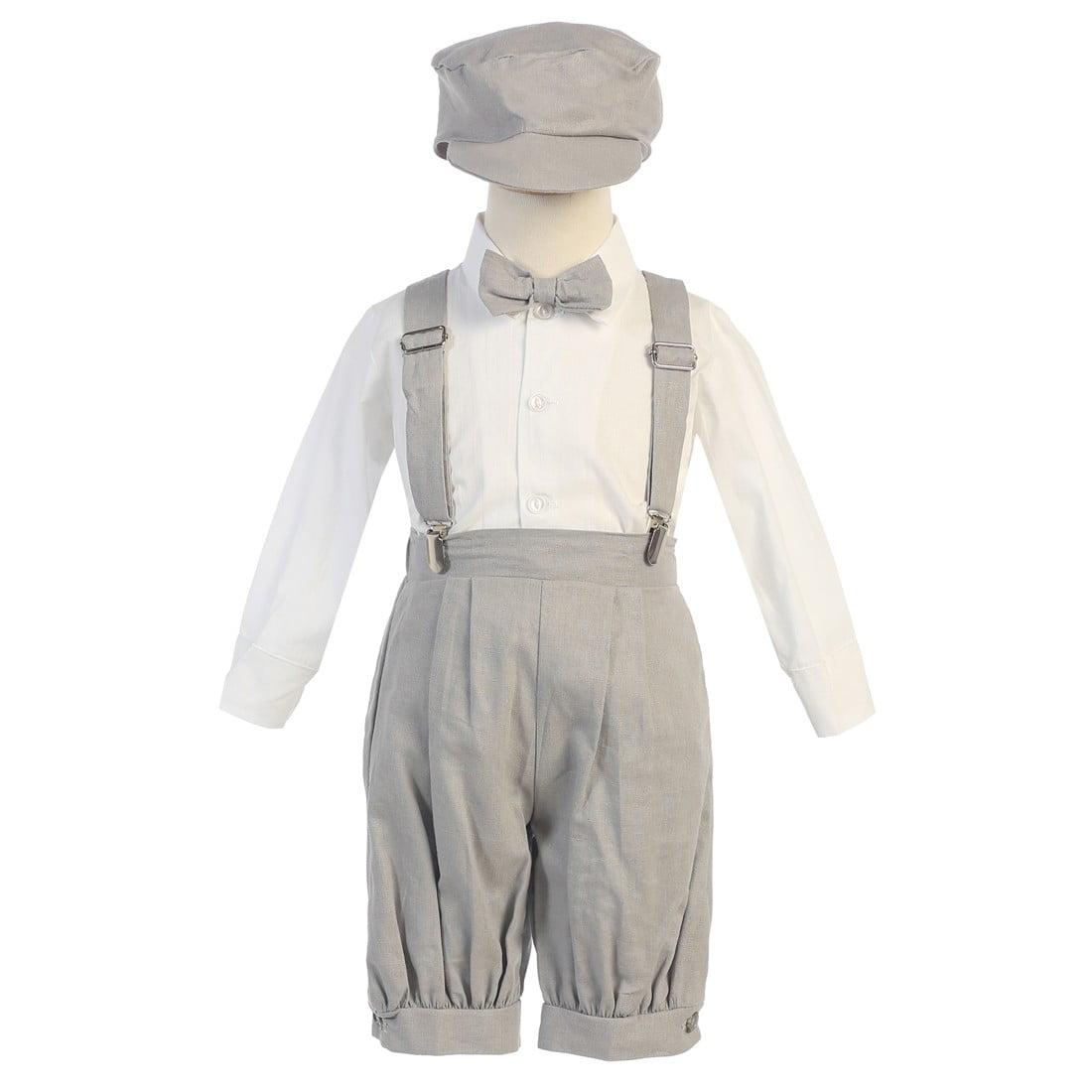 BABY BOYS Bow Tie Braces OUTFIT SET Romper Pants Hat Present Cool Love SMART