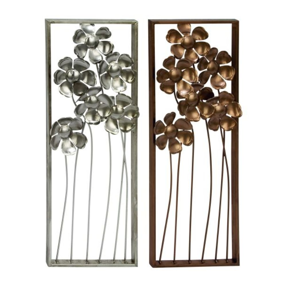 "Metal Wall Decor 2 Assorted 12""W, 31""H"