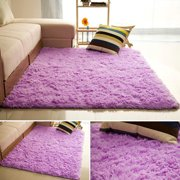 DODOING Super Soft Indoor Modern Shag Area Silky Smooth Fur Rugs Fluffy Rugs Anti-Skid Shaggy Area Rug Dining Room Home Bedroom Carpet Floor Mat, 4 Size, 10 + Color