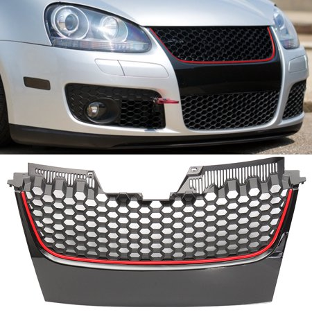1Pcs Front Bumper Grill Grille With GTI Badge For VW MK5 Golf Jetta GT Sport 2006 (Vw Golf Grill)