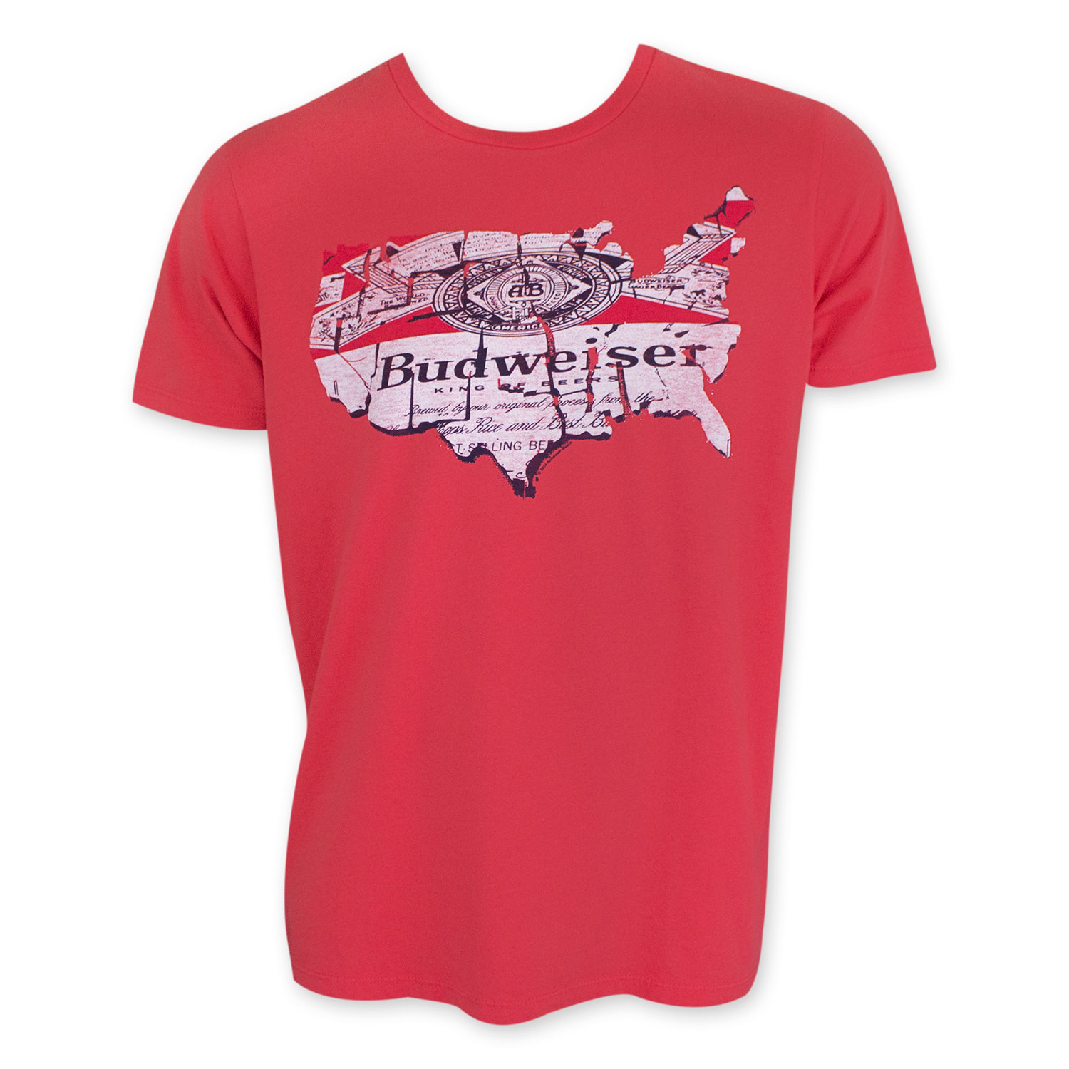 Budweiser Red Map T-Shirt