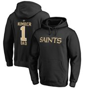 New Orleans Saints NFL Pro Line Number 1 Dad Pullover Hoodie - Black