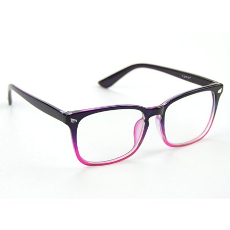 Cyxus Blue Light Blocking Computer Glasses for Women/Girls, Anti Eyestrain Headaches UV400, Gradient Pink Frame and Clear Lens Fashion (Glasses With Plastic Frames And Clear Lenses)