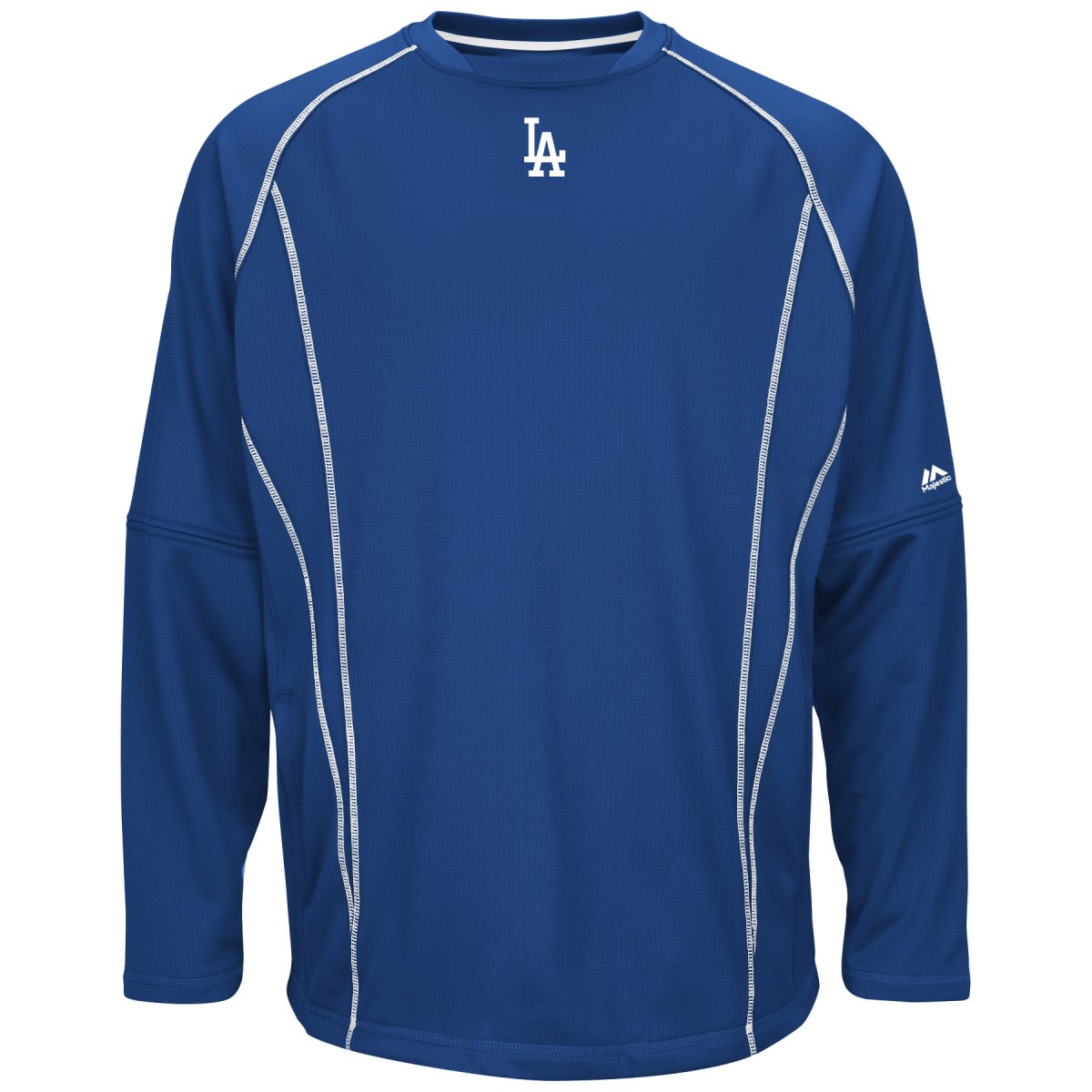 Los Angeles Dodgers Majestic MLB Authentic On-Field Crew Pullover Sweatshirt