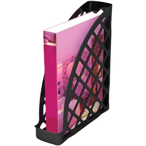 Deflect-o Sustainable Office Magazine File 30% Recycled Content - Black - 1 Each DEF34804