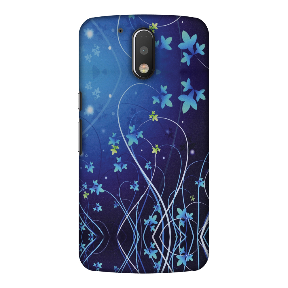 Motorola Moto G4 Play XT1609 Case, Motorola Moto G4 Play XT1607 Case - Midnight Lily,Hard Plastic Back Cover, Slim Profile Cute Printed Designer Snap on Case with Screen Cleaning Kit