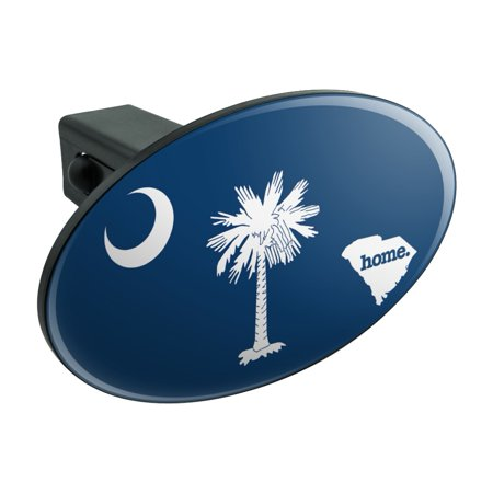 South Carolina SC Home State Flag Officially Licensed Oval Tow Hitch Cover Trailer Plug Insert 1 1/4 inch