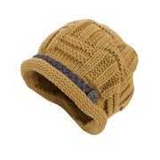 Tasharina Women's Solid Color Winter Wearing Stretchy Knit Beanie Hat Yellow