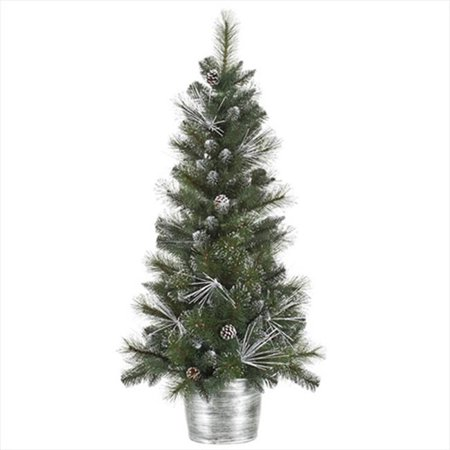 Northlight 4 Ft Flocked And Glittered Mixed Pine Potted
