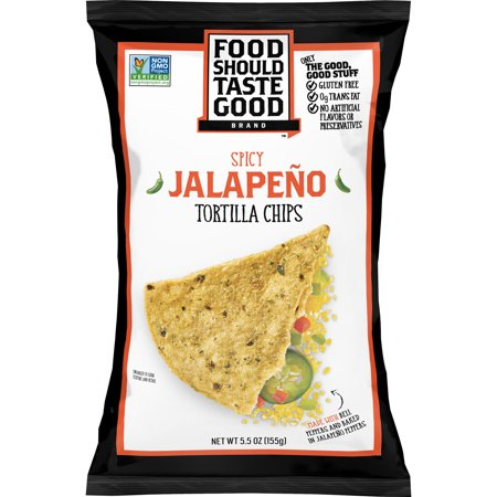 Food Should Taste Good Jalapeno Tortilla Chips, Gluten Free, 5.5 oz