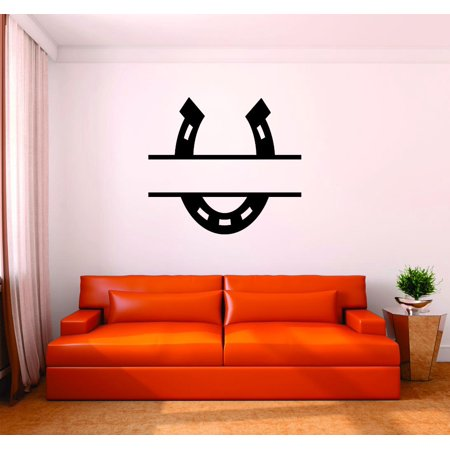Custom Wall Decal : Horseshoe Western Cowboy Cowgirl Home Decor Living Room Bedroom Picture Art 16x16 Inches - Cowboy Room Decor
