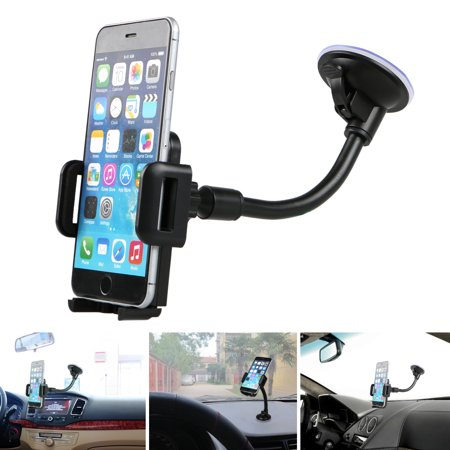 Car Phone Mount, TSV Universal Phone Holder Cell Phone Car Air Vent Holder Dashboard Mount Windshield Mount for iPhone 7 Plus,8 Plus,X,7,6S,6,Samsung Galaxy Note S6 S7 and
