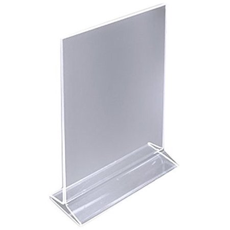 M.V. Trading ADP57 Table Card Display/Plastic Upright Menu Ad Frame/Acrylic Sign Holder, 5 X 7 Inches, Setof 12