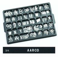 Universal Single Tab Changeable Letters AARHFD75