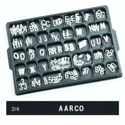 Universal Single Tab Changeable Letters AARHFD75