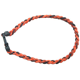 Titanium Ionic Braided Necklace - Orange/Black