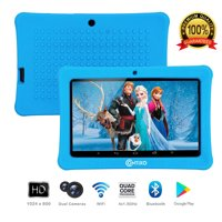 Contixo K1 7 Display 6.0 Android Tablet for Kids Learning Entertainment Educational Apps Bluetooth WiFi Dual Camera for Children Infant Toddler Toy Parental Control Kid-Proof Protective Case (Blue)