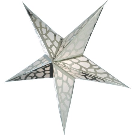 Paper Star Lantern (24-Inch, Platinum Silver) - For Home Decor, Parties, and Holiday Decorations - Lanterns For Party Decorations