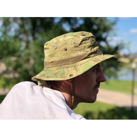 Tactical Boonie Bucket Hat (Green Camo)](Camo Bucket Hats)
