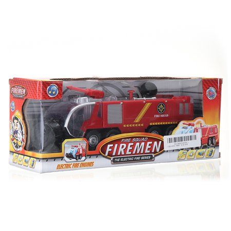 2 Types Firefighters Fire Engines Electric Universal Toy Car Can Water Sprey with Music Colorful Lights - image 8 de 8