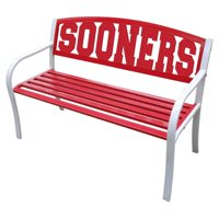 """Leigh Country Collegiate Outdoor Bench With Oklahoma """"Sooners"""" Metal Multi-Colored"""