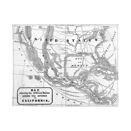 Early Map of United States Territories Print Wall