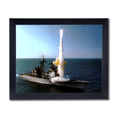 - Navy Ship Launch Missile Bomb Wall Picture Black Framed Art Print