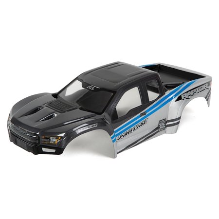 Pro-Line X-MAXX 2017 Ford F-150 Raptor Pre-Painted Body (Gray/Blue)