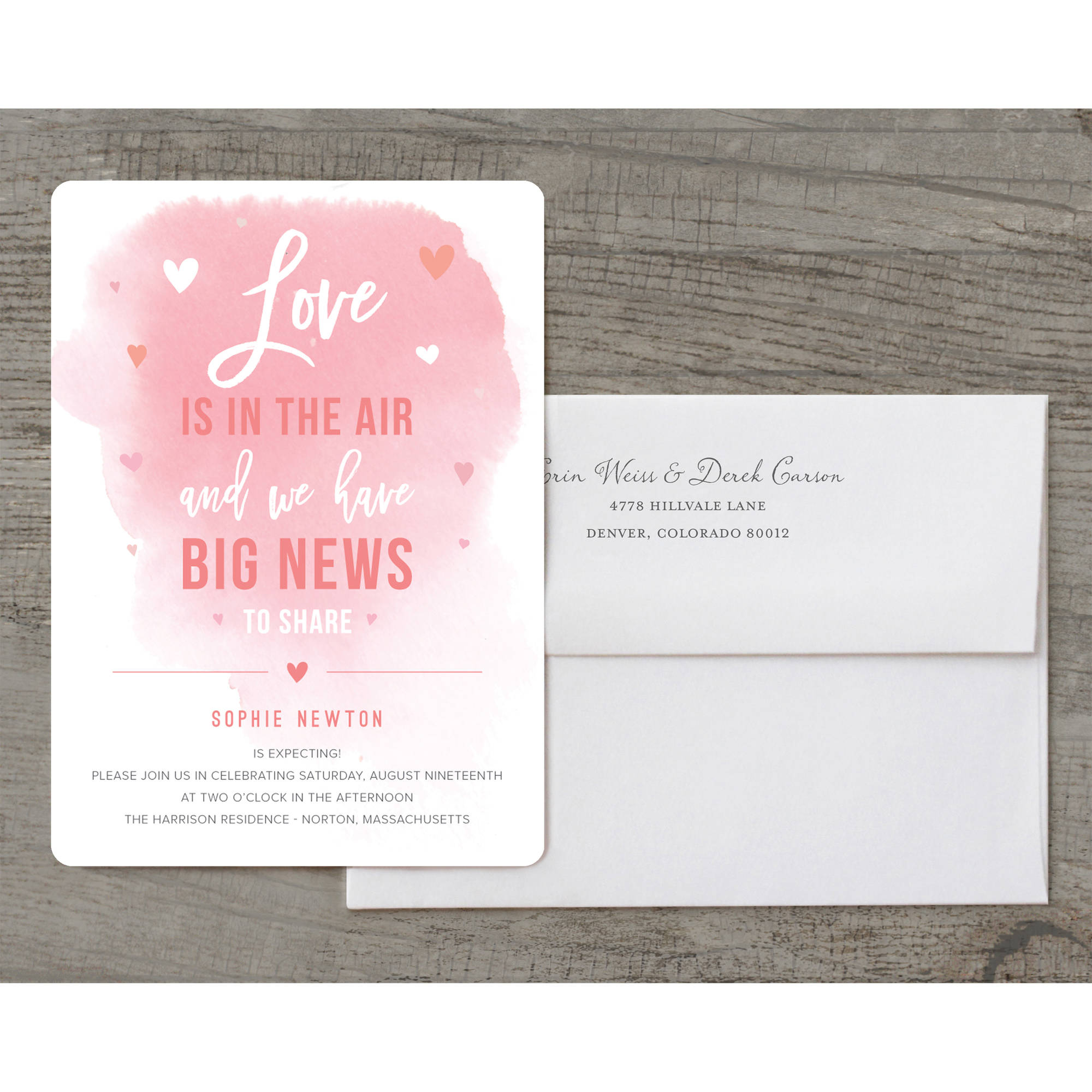 Big News Deluxe Baby Invitation