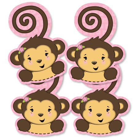 Monkey Girl - Monkey Decorations DIY Baby Shower or Birthday Party Essentials - Set of 20