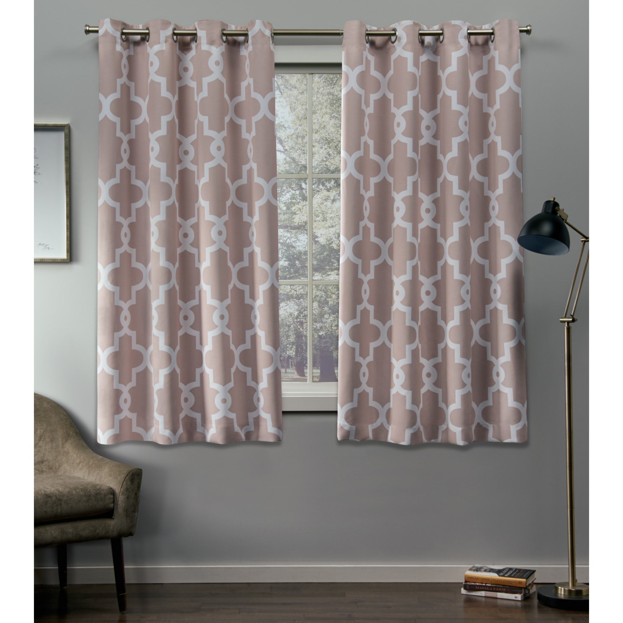 Exclusive Home Curtains 2 Pack Ironwork Sateen Blackout