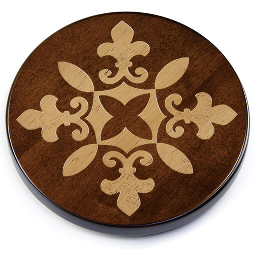 Martins Homewares 85161M Artisan Woods Fleur De Lis Trivet, Brown - 0.75 x 8 in.