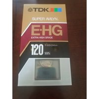 TDK EHG Extra High Grade T-120 Blank VHS Tapes Sealed Avilyn Technology-  -RARE-BRAND NEW-SHIPS N 24 HRS-FREE SHIPPING
