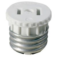 White Adapter Socket To Outlet 2 Count
