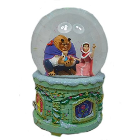 Original Disney Snow Globe With Light And Music The Beauty And The Beast