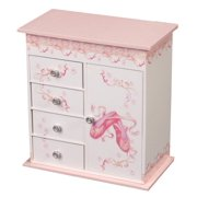 Mele & Co. Cristiana Girl's Musical Ballerina Jewelry Box (Ballet Slipper and Ribbon Design) - Little Girls Jewelry Boxes