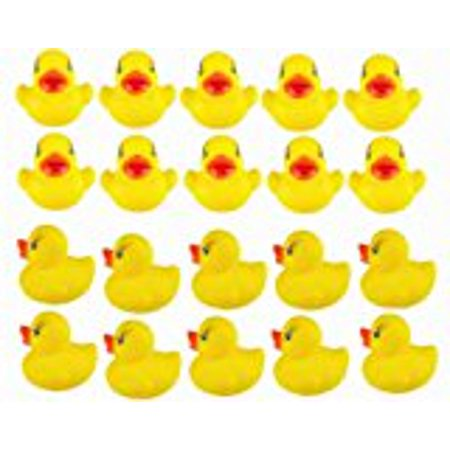 20pcs Yellow Duck for Baby Bath Tub Bathing Rubber Squeaky Toys Yellow Rubber Duck